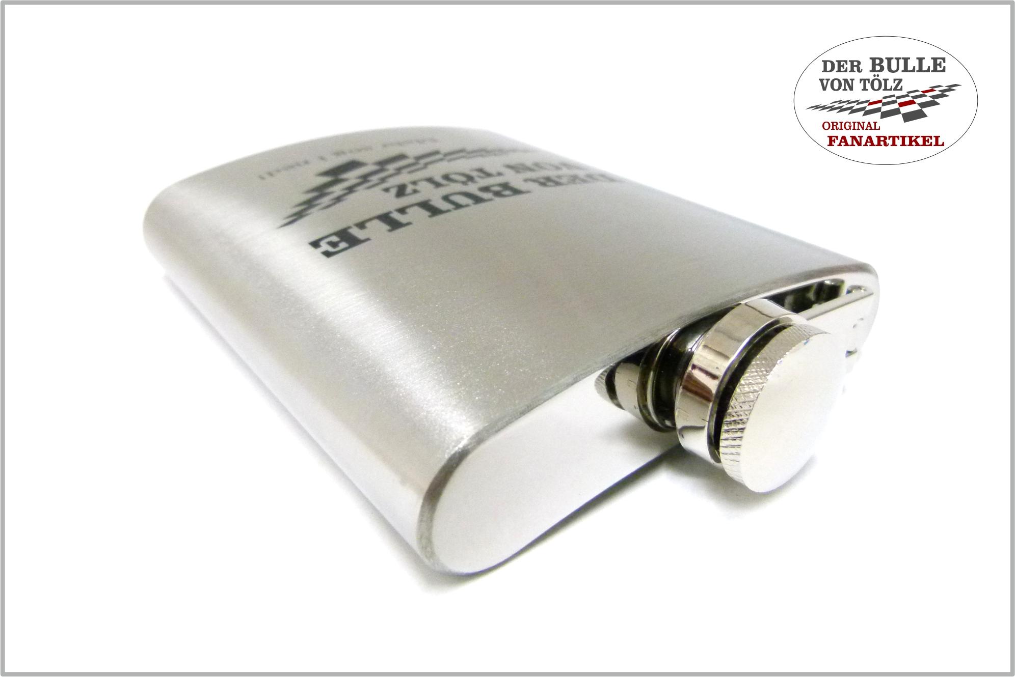 Flachmann - Edelstahl mit 177 ml Inhalt - Lasergravur