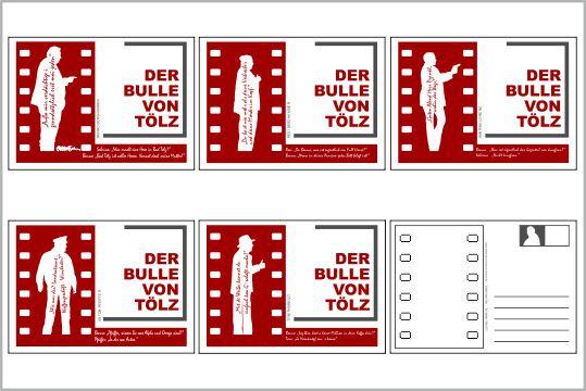 online shop postkarten set mit 5 karten in rot. Black Bedroom Furniture Sets. Home Design Ideas